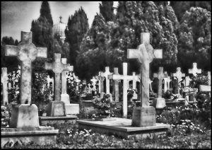 8389 Venezia Cimiterio HDR schwarzweiss