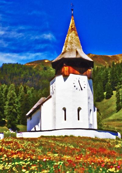 2654 Davos Frauenkirchli Sommer