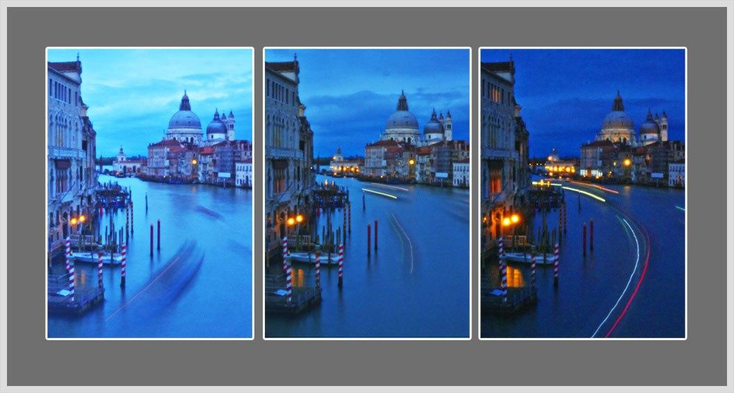 Venezia Triptychon Blaue Stunde Canale Grande