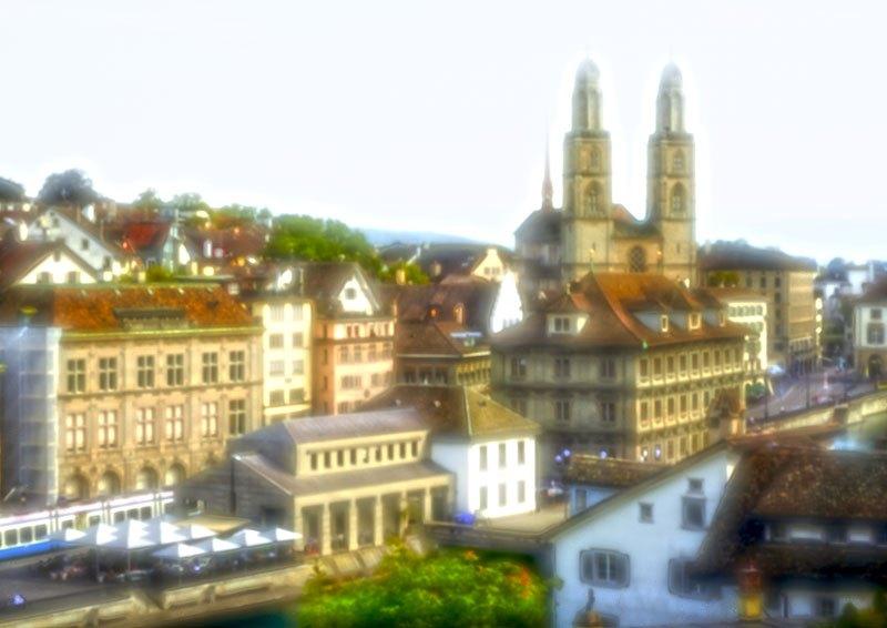 2974 Zürich, Grossmünster und Ratshaus